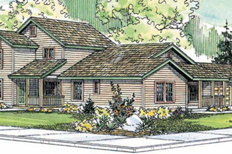 Contemporary Exterior - Front Elevation Plan #124-804 - Houseplans.com