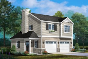 House Design - Country Exterior - Front Elevation Plan #22-611