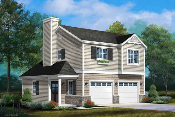 Country Exterior - Front Elevation Plan #22-611