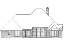 European Exterior - Rear Elevation Plan #310-864