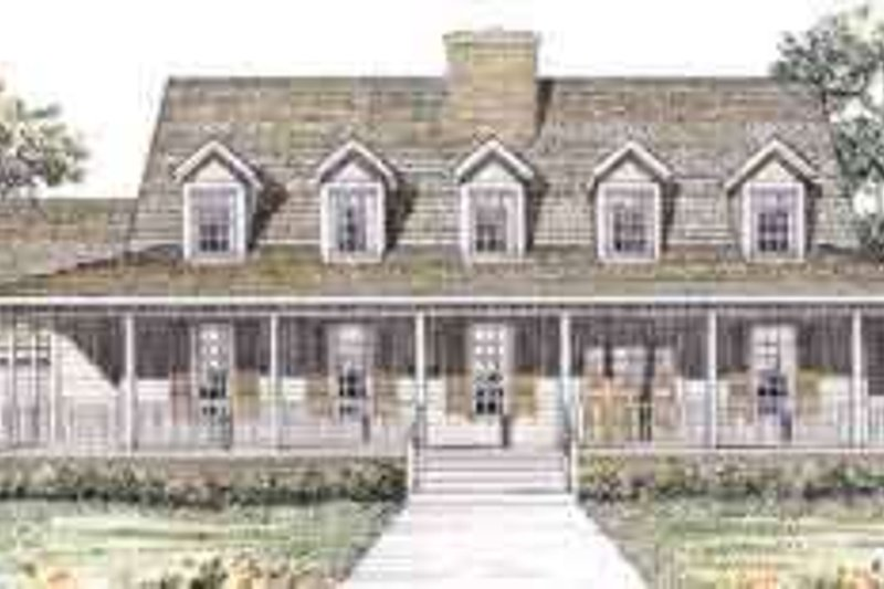 House Blueprint - Country Exterior - Front Elevation Plan #72-455