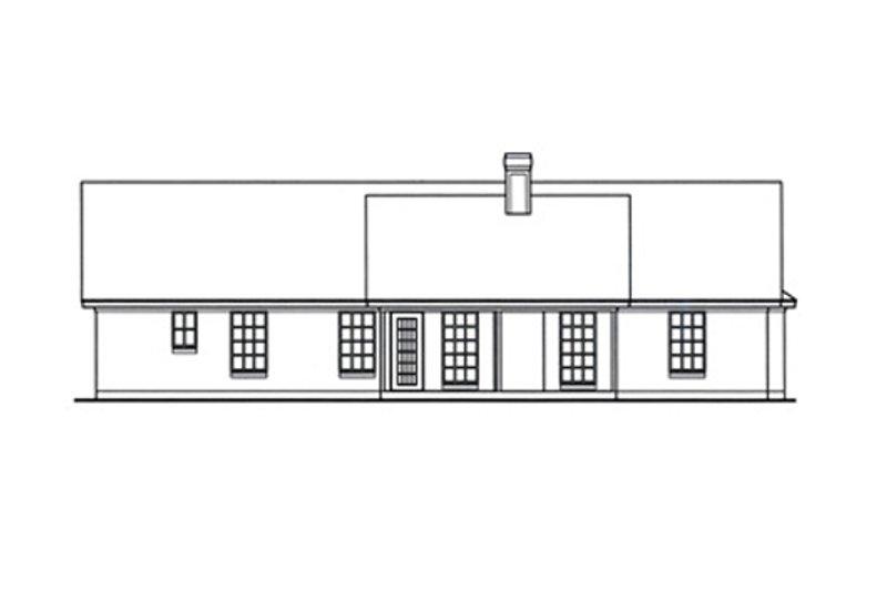 Country Exterior - Rear Elevation Plan #42-385 - Houseplans.com