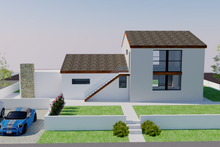 Architectural House Design - Contemporary Exterior - Rear Elevation Plan #542-20