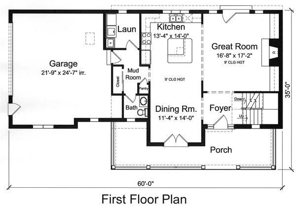 Traditional Floor Plan - Main Floor Plan #46-496