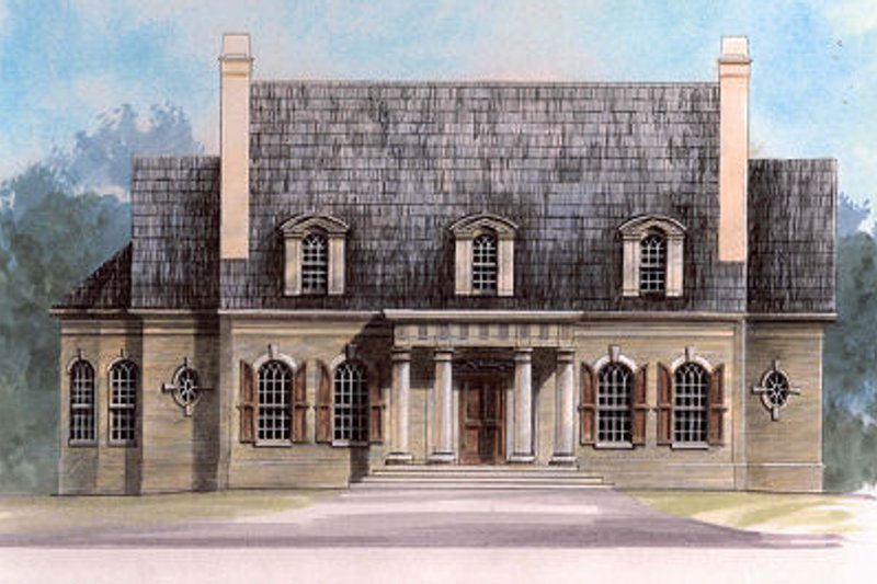 Classical Exterior - Front Elevation Plan #119-252