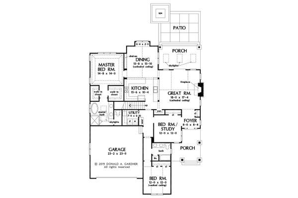 Home Plan - Cottage Floor Plan - Main Floor Plan #929-1134
