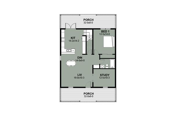 House Blueprint - Farmhouse Floor Plan - Main Floor Plan #497-10