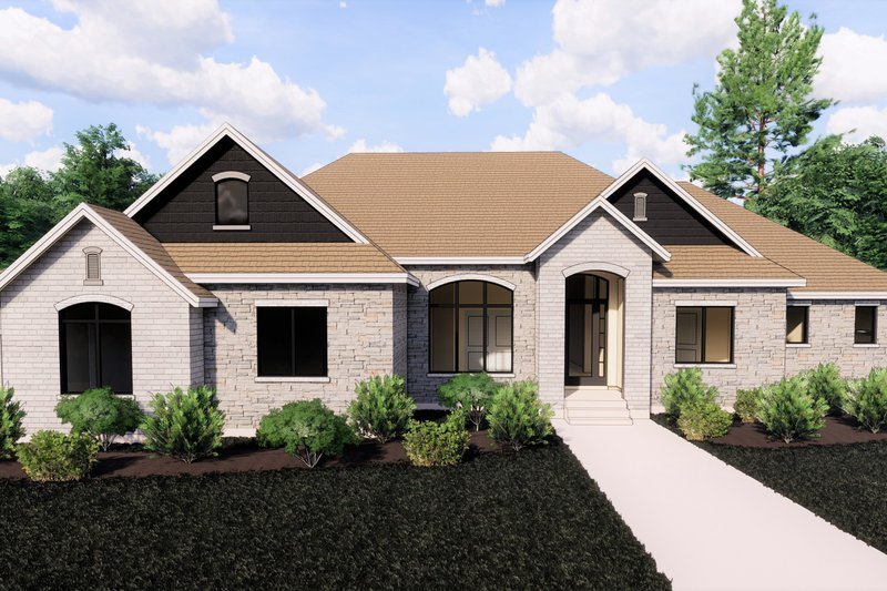 Architectural House Design - Traditional Exterior - Front Elevation Plan #920-127