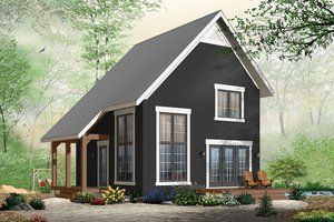 Home Plan Design - Cabin Exterior - Front Elevation Plan #23-2267