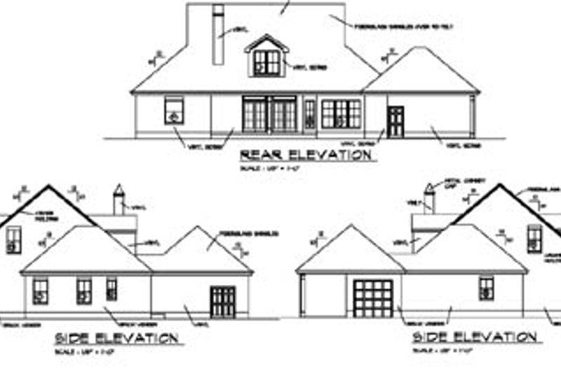 Southern Exterior - Rear Elevation Plan #325-122 - Houseplans.com