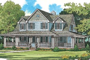 Country Exterior - Front Elevation Plan #72-484