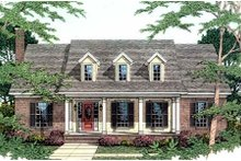 Dream House Plan - Southern Exterior - Front Elevation Plan #406-239