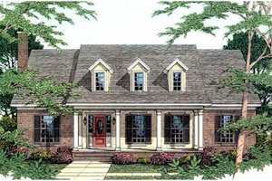 Southern Exterior - Front Elevation Plan #406-239