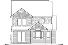 Dream House Plan - Traditional Exterior - Rear Elevation Plan #48-511