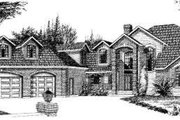 Traditional Style House Plan - 6 Beds 5 Baths 3840 Sq/Ft Plan #303-325 Exterior - Front Elevation