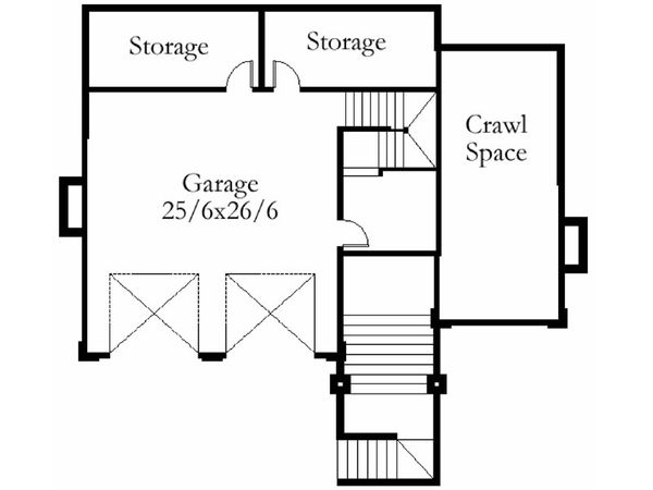 Modern Floor Plan - Lower Floor Plan Plan #509-49