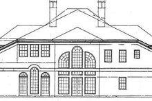 Classical Exterior - Rear Elevation Plan #119-270