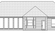 Traditional Style House Plan - 3 Beds 2 Baths 2027 Sq/Ft Plan #84-624 Exterior - Rear Elevation