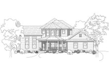 Home Plan - Country Exterior - Front Elevation Plan #80-125