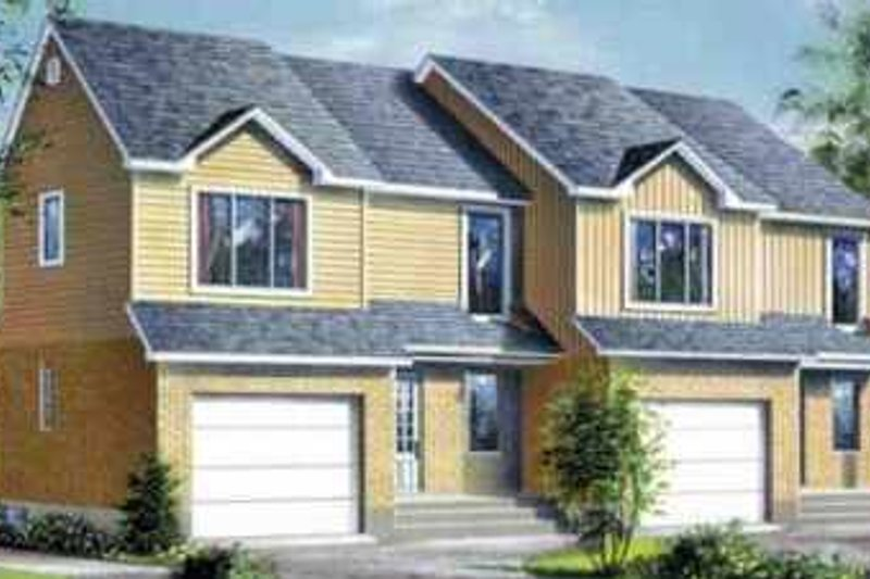 Traditional Style House Plan - 3 Beds 1.5 Baths 3172 Sq/Ft Plan #25-358 Exterior - Front Elevation