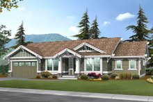 Craftsman Exterior - Front Elevation Plan #132-570