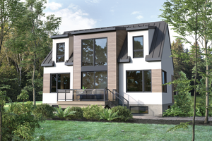 Cottage Exterior - Front Elevation Plan #25-4921