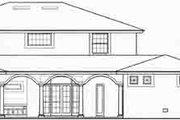 Mediterranean Style House Plan - 4 Beds 4 Baths 4659 Sq/Ft Plan #135-110 Exterior - Rear Elevation