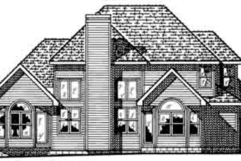 European Exterior - Rear Elevation Plan #20-904 - Houseplans.com