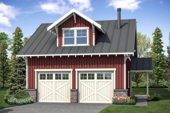 Country Exterior - Front Elevation Plan #124-1098