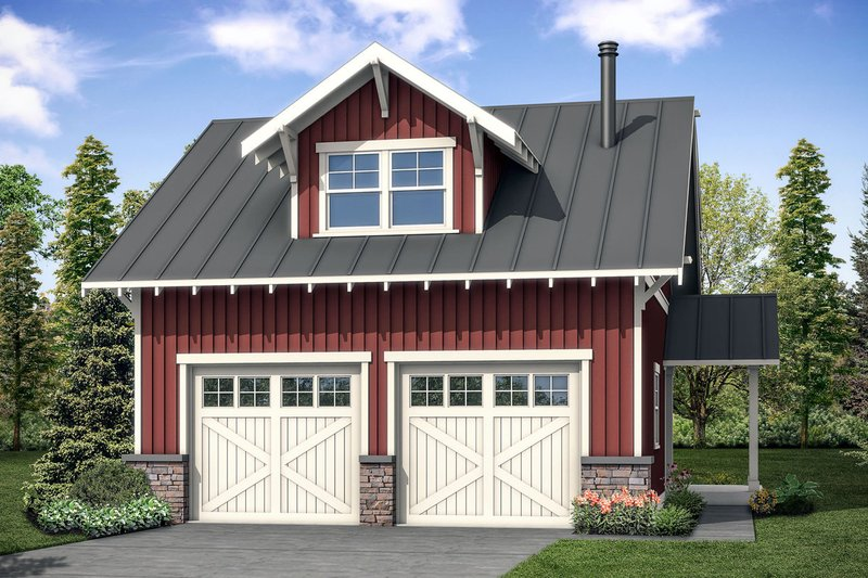 Country Style House Plan - 0 Beds 1 Baths 1422 Sq/Ft Plan #124-1098 Exterior - Front Elevation