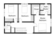 Traditional Style House Plan - 3 Beds 3 Baths 1694 Sq/Ft Plan #497-39 Floor Plan - Upper Floor Plan