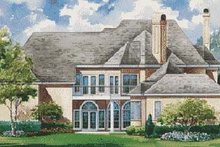 Home Plan Design - European Exterior - Rear Elevation Plan #20-1193