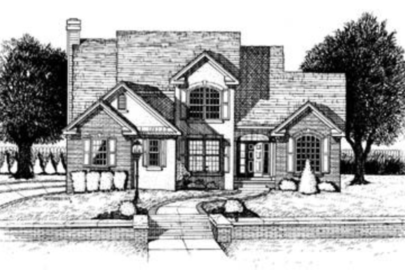Traditional Exterior - Front Elevation Plan #20-1006 - Houseplans.com