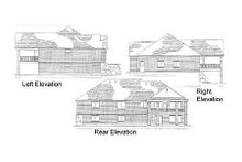 Home Plan - Traditional Exterior - Rear Elevation Plan #5-131
