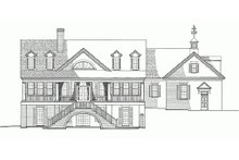 Architectural House Design - Rear View - 3300 square foot Country home