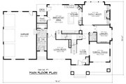 Colonial Style House Plan - 5 Beds 3.5 Baths 4562 Sq/Ft Plan #51-331 Floor Plan - Main Floor Plan
