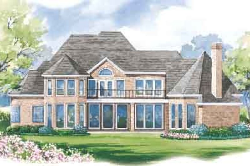 European Exterior - Rear Elevation Plan #20-1190 - Houseplans.com