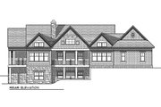 Traditional Style House Plan - 4 Beds 3 Baths 4579 Sq/Ft Plan #70-1157 Exterior - Rear Elevation