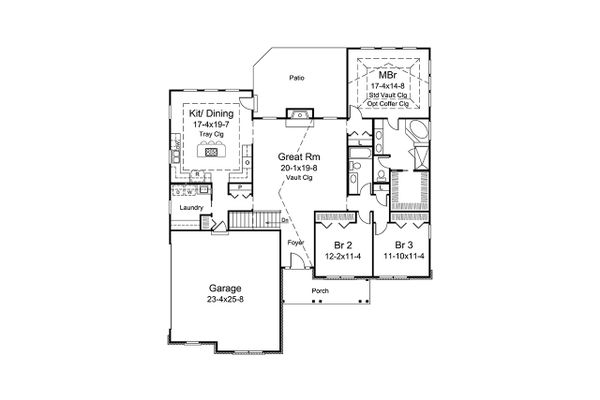 Ranch Floor Plan - Main Floor Plan Plan #57-663