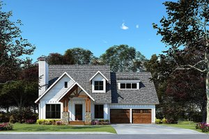 Architectural House Design - Craftsman Exterior - Front Elevation Plan #923-169