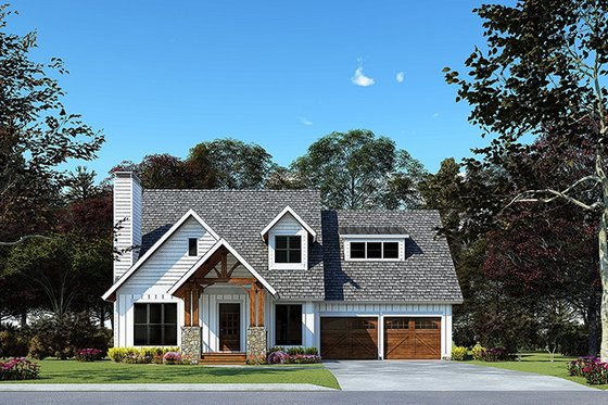 Craftsman Exterior - Front Elevation Plan #923-169