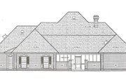 European Style House Plan - 4 Beds 4 Baths 2710 Sq/Ft Plan #45-250 Exterior - Rear Elevation