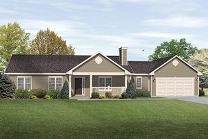 House Plan Design - Ranch Exterior - Front Elevation Plan #22-544