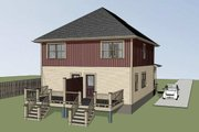 Southern Style House Plan - 4 Beds 2.5 Baths 1736 Sq/Ft Plan #79-276 Exterior - Rear Elevation