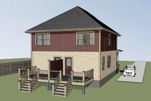 Southern Exterior - Rear Elevation Plan #79-276