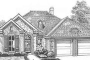 European Style House Plan - 3 Beds 2 Baths 1459 Sq/Ft Plan #310-422 Exterior - Front Elevation