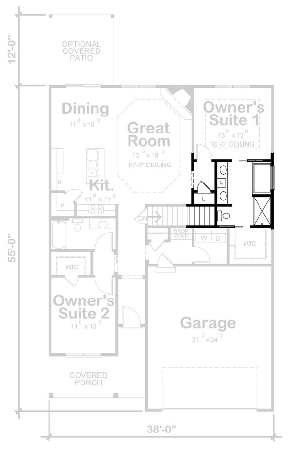 House Design - Farmhouse Floor Plan - Other Floor Plan #20-2355