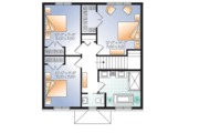 Traditional Style House Plan - 3 Beds 1.5 Baths 1680 Sq/Ft Plan #23-2625 Floor Plan - Upper Floor Plan