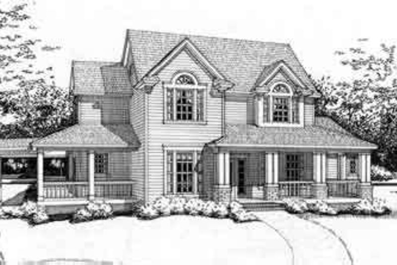 Country Exterior - Front Elevation Plan #120-115