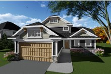 House Plan Design - Craftsman Exterior - Front Elevation Plan #70-1265